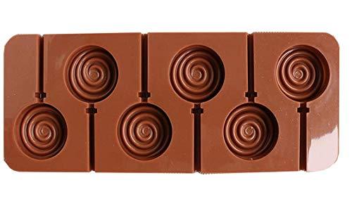 Lumanuby Molde de chocolate de silicona Molde para hacer donuts y piruletas,fondant molde antiadherente para Hornear Cubitos de Hielo, Galletas, ...