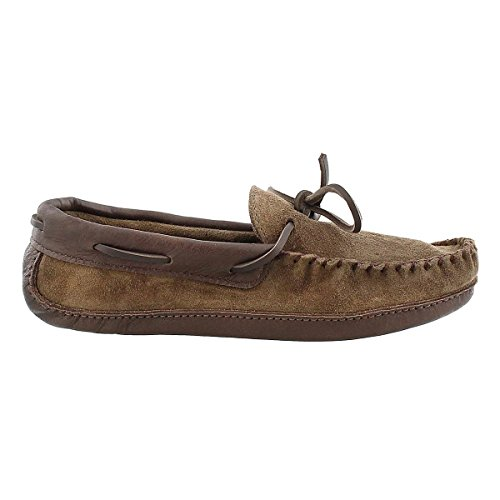 Softmoc Hombres Leather Memory Foam Moccasin Smoke