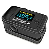 Santamedical Dual Color OLED Pulse Oximeter Fingertip, Blood Oxygen Saturation Monitor (SpO2) with Pulse Rate Measurements and Pulse Bar Graph, Portable Digital Reading OLED Display