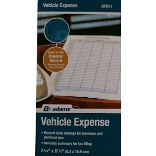 Hot Adams Vehicle Expense Journal, , 3.25 x 6.25 Inches, White (AFR11) free shipping FqUXSFUn