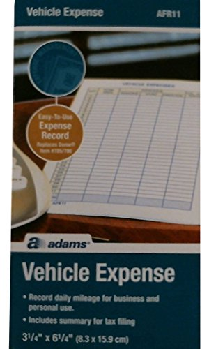 Adams Vehicle Expense Journal - Adams Vehicle Expense Journal, 3.25 x 6.25 Inches, White (AFR11)