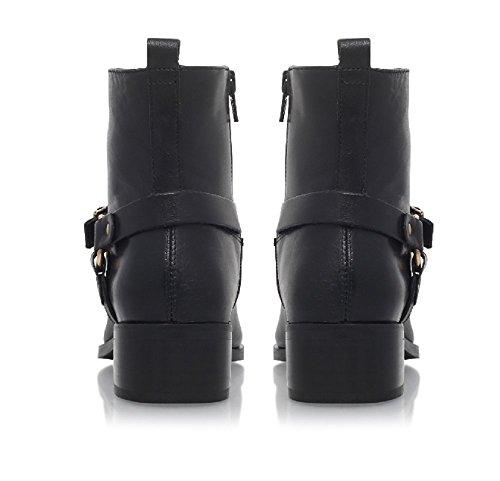 Bottine Carvela Véritable Zip Plein Et En Petro Intérieur Cuir Cerclage Noir Avec tOOAqp