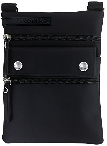 ScanSafe Sprint Mini Crossbody Bag with Rfid Protection, Black by Safescan