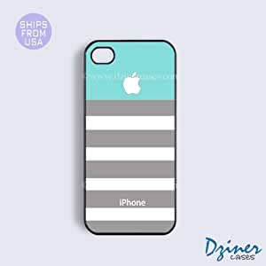 iPhone 5c Case - Sky Blue Grey Stirpes iPhone Cover
