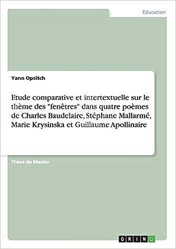 Amazoncom Etude Comparative Et Intertextuelle Sur Le Thème