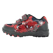 Spiderman Squire Black and Red Hook and Loop Trainers UK Sizes Child 7 - Adult 1