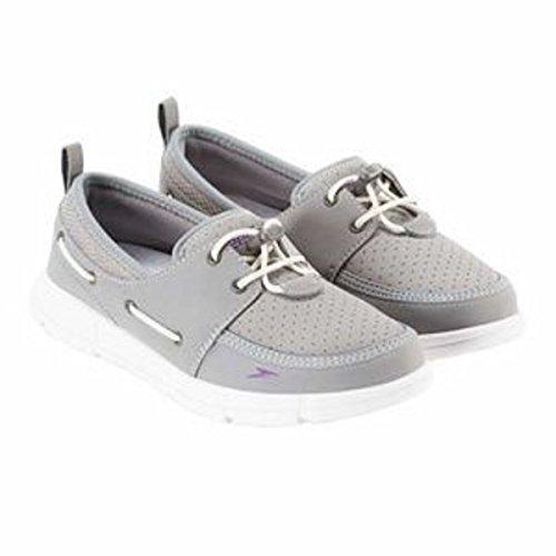 Speedo. Women's Port Lightweight Breathable Water Shoe (7, Grey)