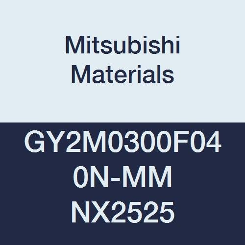 0.016 Corner Radius Pack of 10 Mitsubishi Materials GY2M0300F040N-MM NX2525 Cermet GY Grooving Insert for Multifunctional and Medium Feeds 2 Teeth 0.118 Grooving Width F Seat