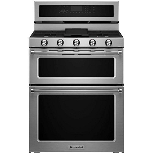 kitchen aid double oven gas range - 3
