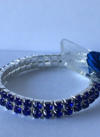 - Sophisticated Lady Rhinestone Corsage Bracelet One Size (Sapphire), DIY, Wedding, Homecoming, Prom, Events, Arts & Crafts and Special Occasions