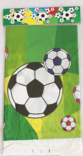 Salome Idea 3-Pack Rectangle Table Cover, Birthday Party/Banquet/Occasion Disposable PE Tablecovers- Printed Table Clothes-70x42 inch (big football) -