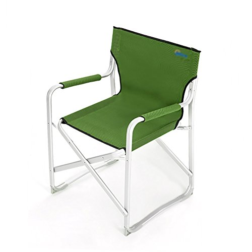 Camping Chairs WSSF- Green Lightweight Portable Sun Loungers Chair Outdoor Aluminium Alloy Folding Household Dining Chair Beach Picnics Fishing Chair (Furniture Aluminium Sun Lounger Outdoor)
