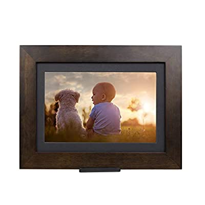 PhotoShare Friends and Family Smart Frame Digital Photo Frame, Send Pics from Phone to Frame, WiFi, 8 GB, Holds Over 5,000 Photos, HD, 1080P, iOS, Android