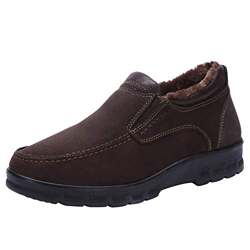Price comparison product image Sunyastor Winter Men's Cotton Shoes,  Clearance Sale Thickening Plus Velvet Keep Warm Shoes Casual Walking Shoes for Men