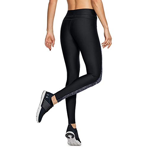 Under Armour Women's HeatGear Armour Printed Legging, Black (001)/Metallic Silver, XX-Large
