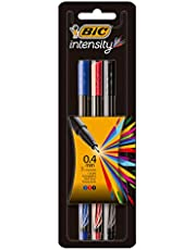 Caneta Hidrográfica BIC Intensity, 3 Cores, Ultra Fina, 0.4mm, 930191, 3 unidades