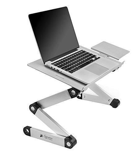Portable Adjustable Aluminum Laptop DeskStandTable Vented wCPU