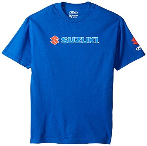 Suzuki Apparel - Factory Effex  15-88462 'Suzuki' Team T-Shirt (Blue, Large)