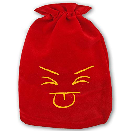 Christmas Bag Santa Sack Personalized Canvas Burlap Bag for Gifts Christmas Gift Bags Drawstring Santa Sack Special Delivery Tongue Out -