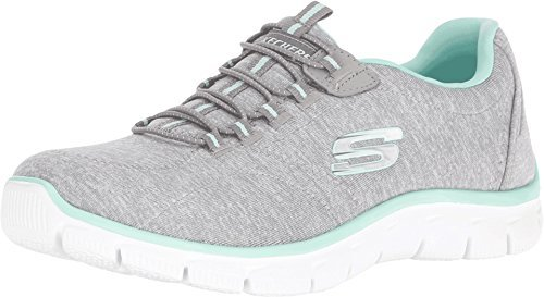 SKECHERS Women's Empire Invitation Only Gray/Mint Oxford