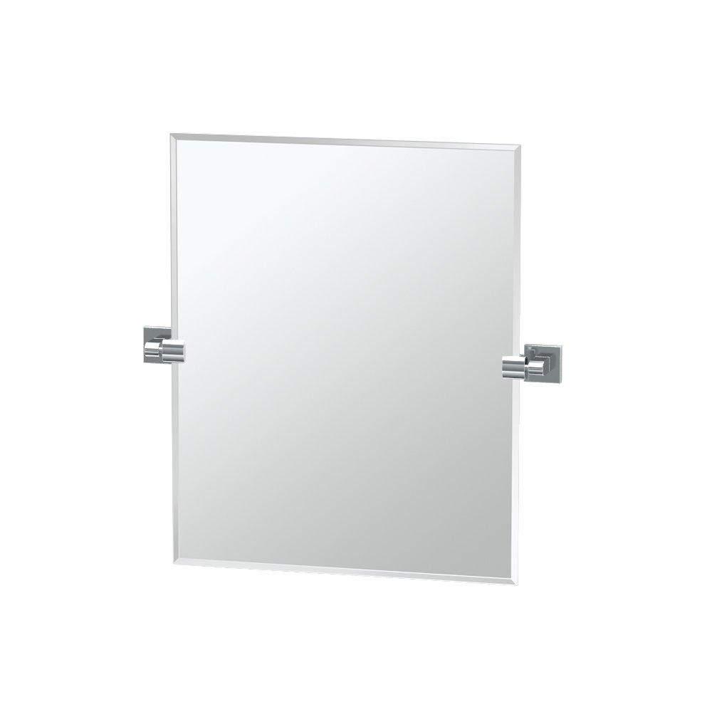 Gatco 4059SM Elevate Frameless Rectangle Mirror, Chrome, 24''H by Gatco