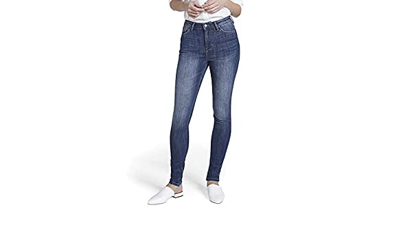 3dce7c23276 Orvis Women's Dish Performance High-Rise Skinny Jeans, Indigo Blue, 27 at  Amazon Women's Jeans store
