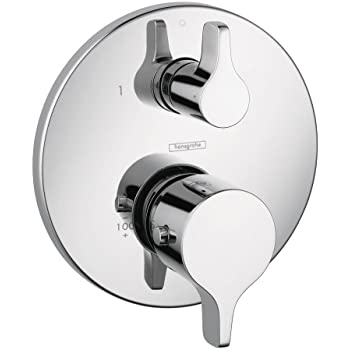 Hansgrohe 04353000 S and E Thermostatic Trim with Volume Control and Diverter, Chrome