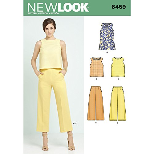 New Look Patterns Misses' Tunic Top Cropped Pants A (8-10-12-14-16-18-20) 6459