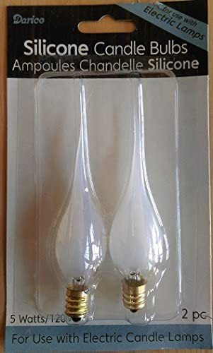 Darice 6201-17 2 Pack 5W 120V Silicone Dipped Bulbs for Electric Candles Quantity 24