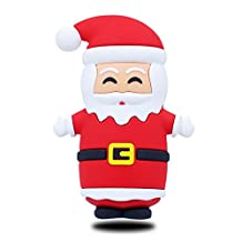 Christmas Emoji Stuff Santa Protable Charger By JACK CHOLE, Cute 3D Shape Claus power bank design,5200mAh Great Christmas gift for iPhone 7 / 6s / Plus, Galaxy S7 / S6 / S6 Edge / Edge+, Note 5 & More