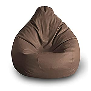 Brown XXL Size (42x24 inch) Bean Bag Chair Cover Only (Without Bean Fillers) Protective Liner From Nexis Sundry