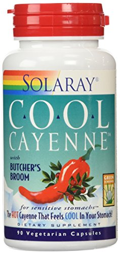 Solaray Cool Cayenne with Butcher's Broom 40000 HU Capsules, 90 (Solaray Butchers Broom)