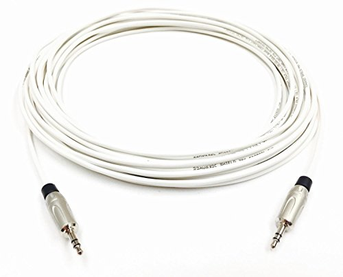 100 Foot Plenum CL3P 3.5mm (1/8 inch) Stereo Audio Cable Male to Male by Custom Cable Connection