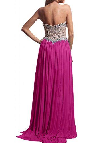 Toscana sposa smaltato a forma di cuore kraftool cristallo Chiffon sera lungo Party Ball un'ampia vestimento viola 48