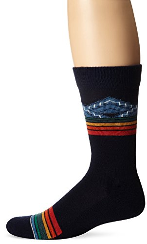 Pendleton Men's Merino Jacquard Park Crew Socks, Blue, - Parka Wool Mens