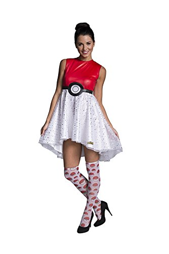 (Rubie's Costume Co Women's Pokemon Pokeball Costume Dress, Multi,)