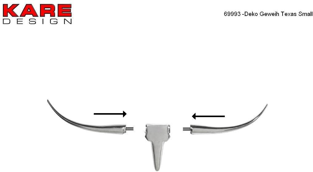 Kare 69993 Deco Antlers Texas 51 x 45 x 32 cm Aluminium