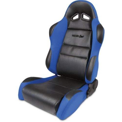 Blue Velour Wings Bolsters Racing Sportsman Recliner Left Seat ProCar by Scat 80-1605-65L Black Vinyl Inside