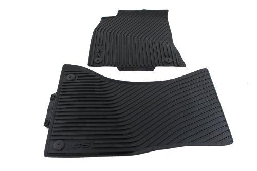 Audi Custom Cabriolet Floor Mats (Audi Genuine Accessories 8T1061221A041 Black Rubber Front All Weather Floor Mat S5, (Set of 2))