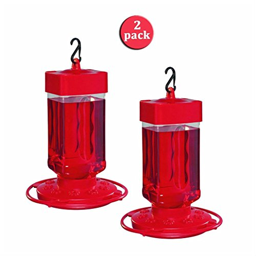 2 Pack First Nature 32 oz Hummingbird Feeder 3055 Easy Clean by First Nature