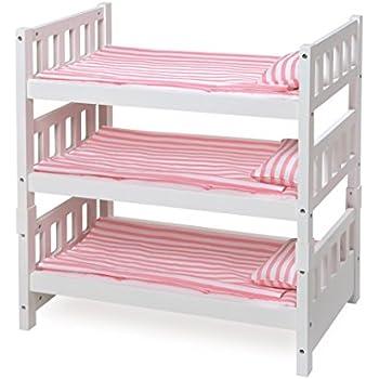 Amazon Com Badger Basket 1 2 3 Convertible Doll Bunk Bed