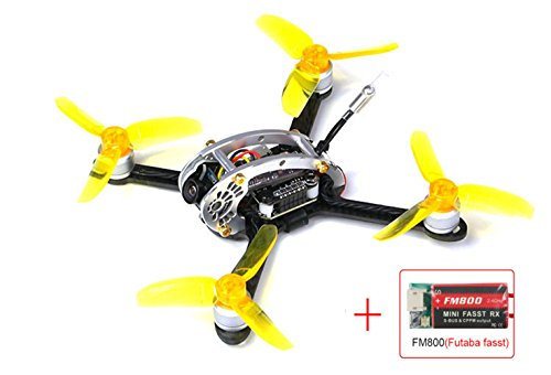 KINGKONG/LDARC Fly Egg 130 PNP FPV Racing Mini Indoor Brushless Drone Quadcopter FM800(Futaba) Receiver
