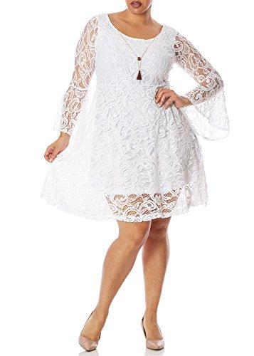 Buy bell sleeve lace mini dress - 4