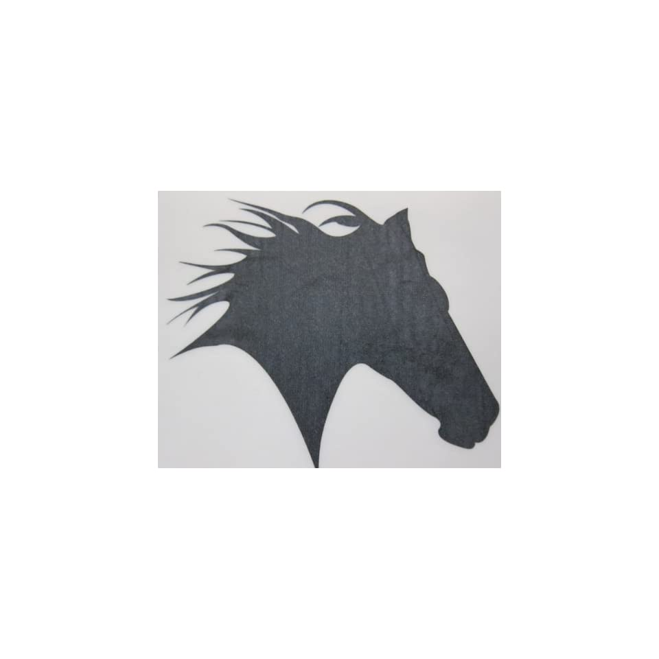 Med Black Glitter Horse Head Silhouette Car, Truck Window
