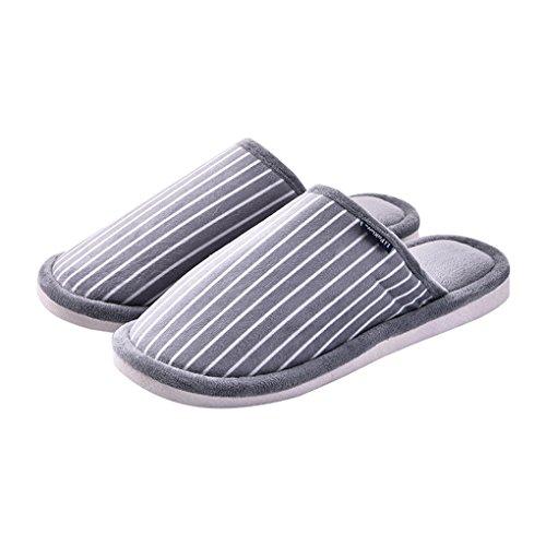 Anti LemonGirl Gray Femmes Dérapants Chaussons Pantoufles Comfort et Hommes épaisses wIqAIRUx