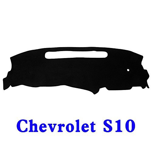 JIAKANUO Auto Car Dashboard Dash Board Cover Mat Fit for Chevy Chevrolet S10 1998-2004 (Black) MR039