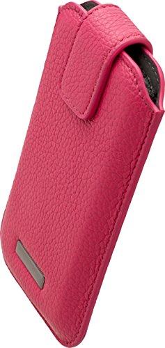 Commander Roma XXL5.7 Leder Case für Samsung N7100 Galaxy Note 2/N9005 Galaxy Note 3/Apple iPhone 6 Plus pink