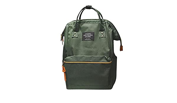 Amazon.com: Capacity Solid Backpack Travel School Bag Double Shoulder Zipper, (Color - Army Green): Baby