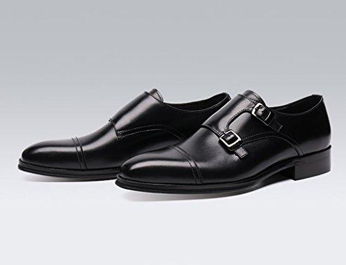 HWF uomo britannico pelle Marrone con formale Scarpe Uomo UK6 lavoro stile in da Colore EU39 Nero dimensioni a da in punta mano Scarpe Pelle YP8TwYrq