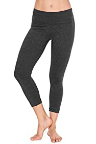 90 Degree By Reflex - Power Flex Yoga Capri - Cationic Heather Activewear Pants